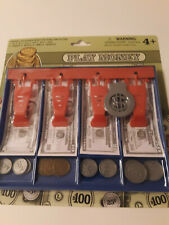 Cash Register Pretend Play Money Coins Cashier Toys Games Kids Red Blue