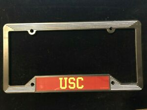 USC TROJANS License Plate Frame New Old Stock NOS University Southern California
