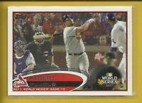 Albert Pujols 2012 Topps World Series Card # 108 St. Louis Cardinals Baseball