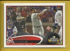 Albert Pujols 2012 Topps World Series Card # 108 St. Louis Cardinals Baseball