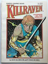 KILLRAVEN - WARRIORS OF THE WORLDS Marvel Graphic Novel No. 7 By DON McGREGOR