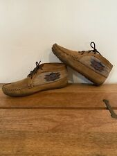 Minnetonka Women's Leather Aztec Design Lace Moccasins ANKLE BOOT 571 Size 8