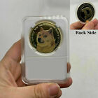 1x Gold Dogecoin Coins Commemorative 2021 New Collectors Gold Plated Shiba Inu
