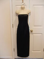 NWT jessica mcclintock Black satin strapless Prom/Stage/Formal Ocassion Gown 7/8