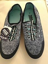 Podium By Shoezone Blue Memory Sole Inner Comfort Ladies Trainers Size 7 New...