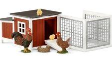 NEW Schleich Chicken Coop 42421 Fence Cockerel Chicks Easter Farm World NEW 2018