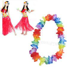 NEW Colorful Hawaiian lei hula Aloha Hawaii Flower Garland Necklace Party Lot CN