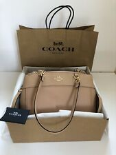 BNWT COACH Nude/Pink pebbled leather satchel bag In Gift Box RRP £495