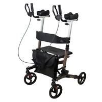 Upright Walker Rollator Walker Stand Up Rolling Walker with Seat 300lbs MAX