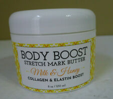 Basq Body Boost Stretch Mark Butter Milk Honey Collagen Elastin 8oz Sealed
