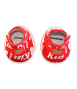 "Red Kiss Heart Shoes Teddy Bear Clothes Fits Most 14"" - 18"" Build-a-bear and Mak"
