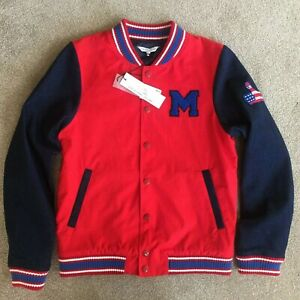 LITTLE MARC JACOBS RED & BLUE VARSITY JACKET AGE 12 YRS RETAIL BNWT