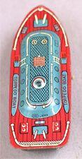 Vintage Tin Friction Boat --- Torpedo Boat -- Haji Japan
