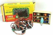 Vintage Waterproof Outdoor Holiday Christmas Tree 15 Light Bulb Strand String