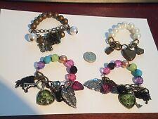 4 Beaded Charm Bracelets