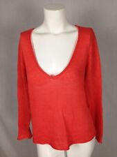 TALBOTS PETITES Women s Knit Sweater Size Small Orange Long Sleeve Scoop  Neck 386ada080