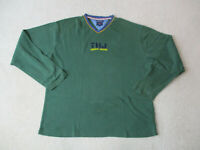 VINTAGE Tommy Hilfiger Long Sleeve Shirt Adult Extra Large Green Blue Spell Out