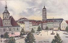 Markt in Jena, 1907,  nicht gelaufen , sehr gut erhalten, siehe Scan