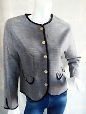Gilet BCBG Gris chiné Made In France Vintage