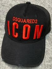 """New Unisex Black Cap Red Embroidery  letter """"ICON"""" Snapback Flat Cap Sports Hat"""