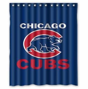 great chicago cubs shower curtain 60 x 72 inch with hooks