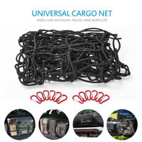 Max 6'x8' Large Cargo Net Car Van Truck Bed Bungee Mesh Load Tighter w/ 12 Hooks