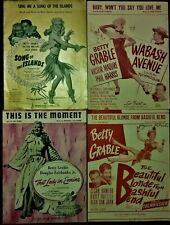 New ListingSheet Music Betty Grable: Song of the Islands, Beautiful Blonde, Lady in Ermine.