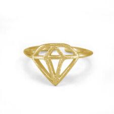 14k Yellow Gold Fn 925 silver Diamond Shape Adjustable Toe Ring Fashion Women'