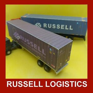 Model Rail Shipping Containers Russell Logistics OO 1:76 x 5
