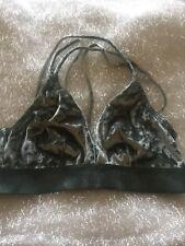 NEW Victoria's Secret PINK Velvet Triangle Bralette Sage M