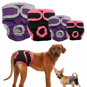Reusable Pet Dog Sanitary Nappy Diaper Soft Cotton Dog Pants Pad Menstrual S-XL