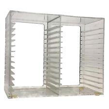 Vintage Acrylic Inc Clear 30 Cd Holder Transparent Disc Rack Made In Usa 1993