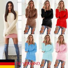 Damen Lässig Tunika Bodycon Pulli Casual Pullover Herbst Winter Sweater Stricken