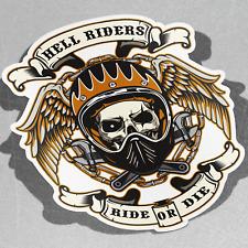 Hell Riders Skull Urban Bike Moto S Vinyl Sticker Decal Window Car Van Bike 3073