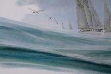 mini poster affiche art décoration marine mer oiseau enfant dessin Lot de 2 neuf