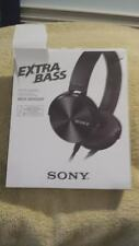 SONY MDR-XB450AP XB450 Extra Bass Headphones - Black Excellent Condition In Box