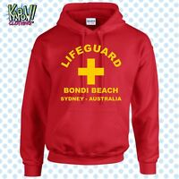 LIFEGUARD Men's Rescue Custom HOODIE Surf Surfer Hooded Sweatshirt Baywatch Top