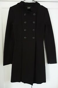 SCANLAN THEODORE CREPE KNIT COAT JACKET,DARK BROWN,DOUBLE BREASTED,SMALL,8,$650