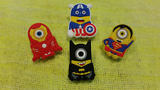 MINIONS SUPERHEROES Bookmark/Paper Clips (lot of 4)!! FAST USA SHIPPING!!