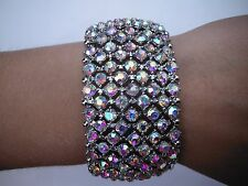 Ab crystal bracelet silver ballroom latin dance competition performance pageant