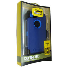 NEW OtterBox iPhone 5 Knight Sky Blue Defender Case w BELT CLIP HOLSTER OEM NEW