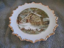 PLATE - CURRIER & IVES - THE  OLD HOMESTEAD IN  WINTER