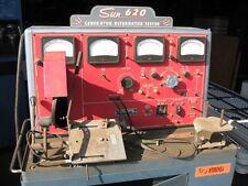 sun electric generator/alternator tester model gat 620 manual pdf book cd