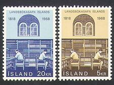 Iceland 1968 Library/Books/Building/Education/Literature/Writing 2v set (n34882)