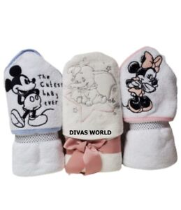 Disney Baby Hooded Towel Mickey Minnie Mouse & Dumbo Cotton Bath Towels