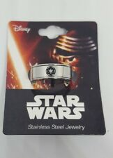 Star Wars Empire Darth Vader Storm Trooper Stainless Steel Spinner Ring New Sz10