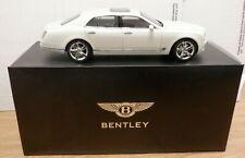Kyosho 1:18 Bentley Mulsanne Speed Ghost White Die-Cast 110719DBTub2
