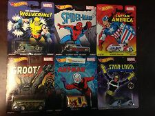 2015 New Marvel w/GROOT * Complete 6 Car Set * Hot Wheels 2015 Pop Culture * Z2