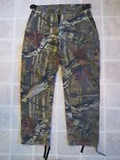 SCENT SHIELD Camo PANTS Youth XL Adjustable Waist Zipper Break-Up Camouflage EUC