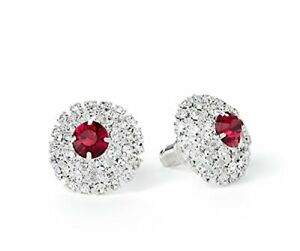 59665 Diamante earrings featuring a single pink crystal stone in the centre